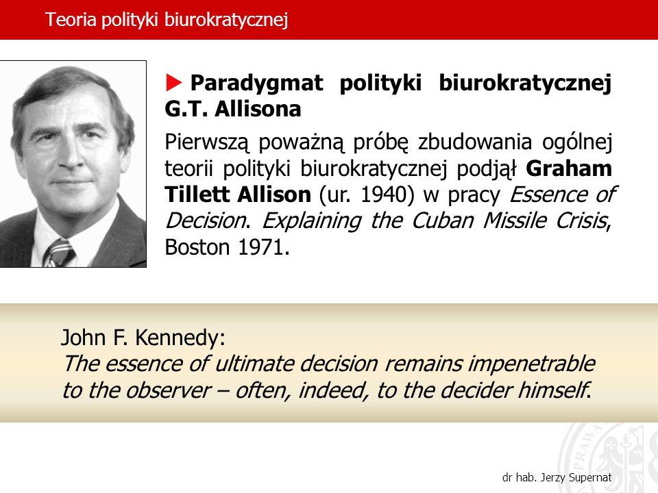Teoria polityki biurokratycznej dr hab.