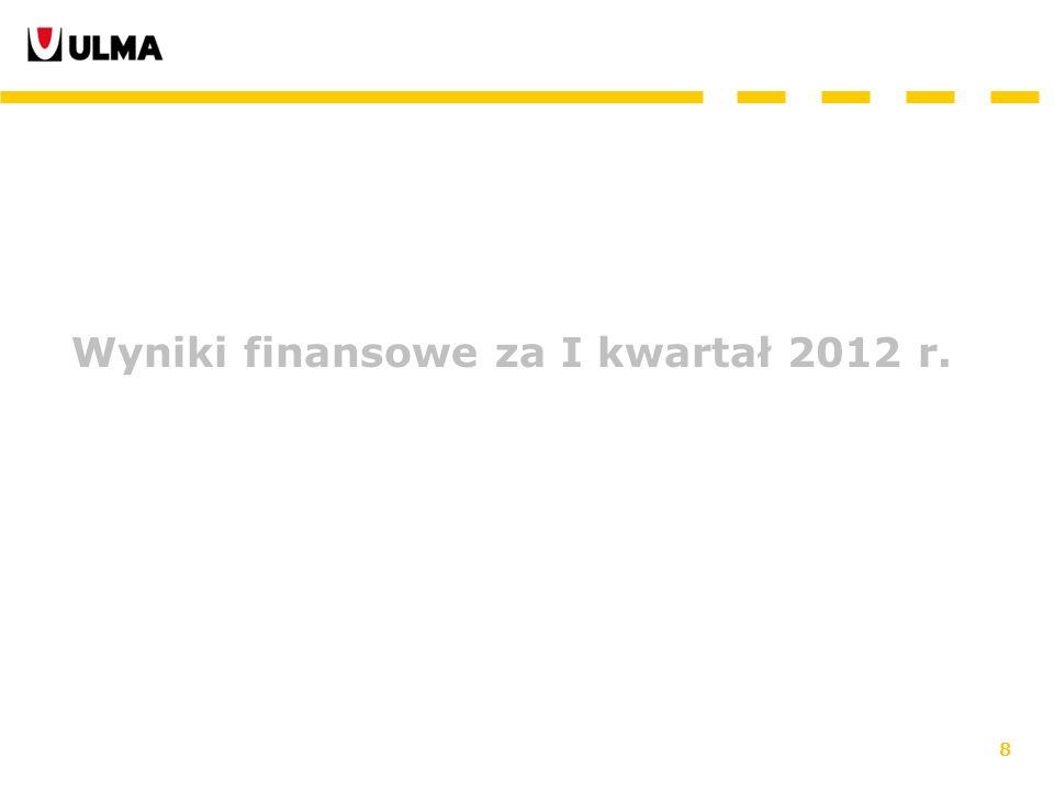 8 Wyniki finansowe za I kwartał 2012 r.