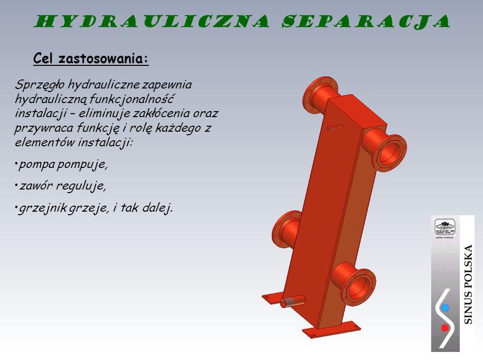 Sprzęgło hydrauliczne zapewnia hydrauliczną funkcjonalność instalacji – eliminuje zakłócenia oraz przywraca funkcję i rolę każdego z elementów instala