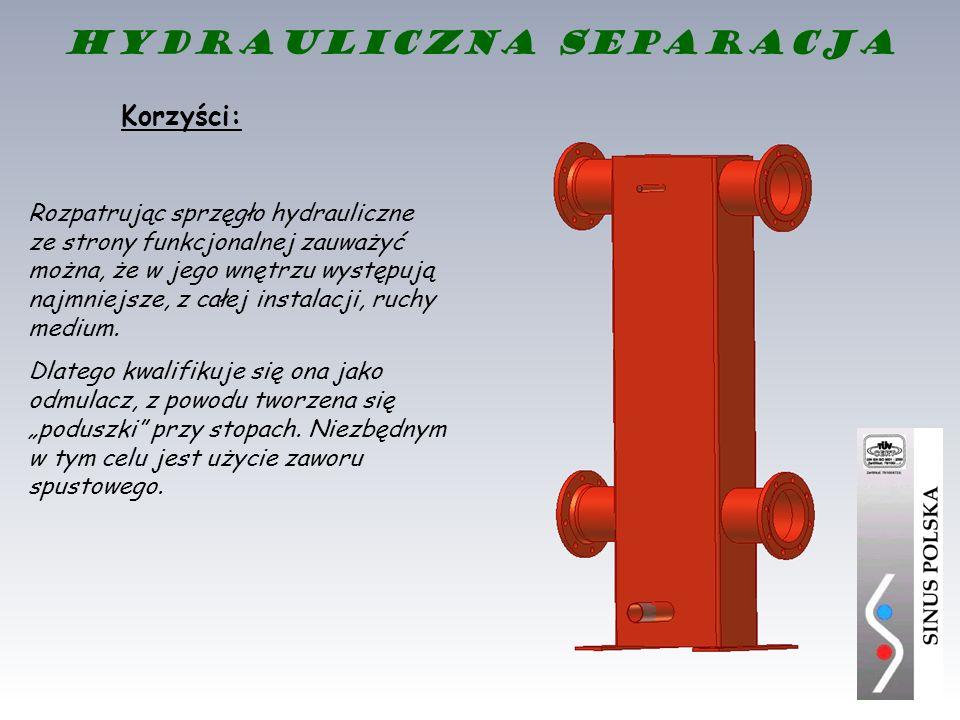 Rozpatrując sprzęgło hydrauliczne ze strony funkcjonalnej zauważyć można, że w jego wnętrzu występują najmniejsze, z całej instalacji, ruchy medium. D