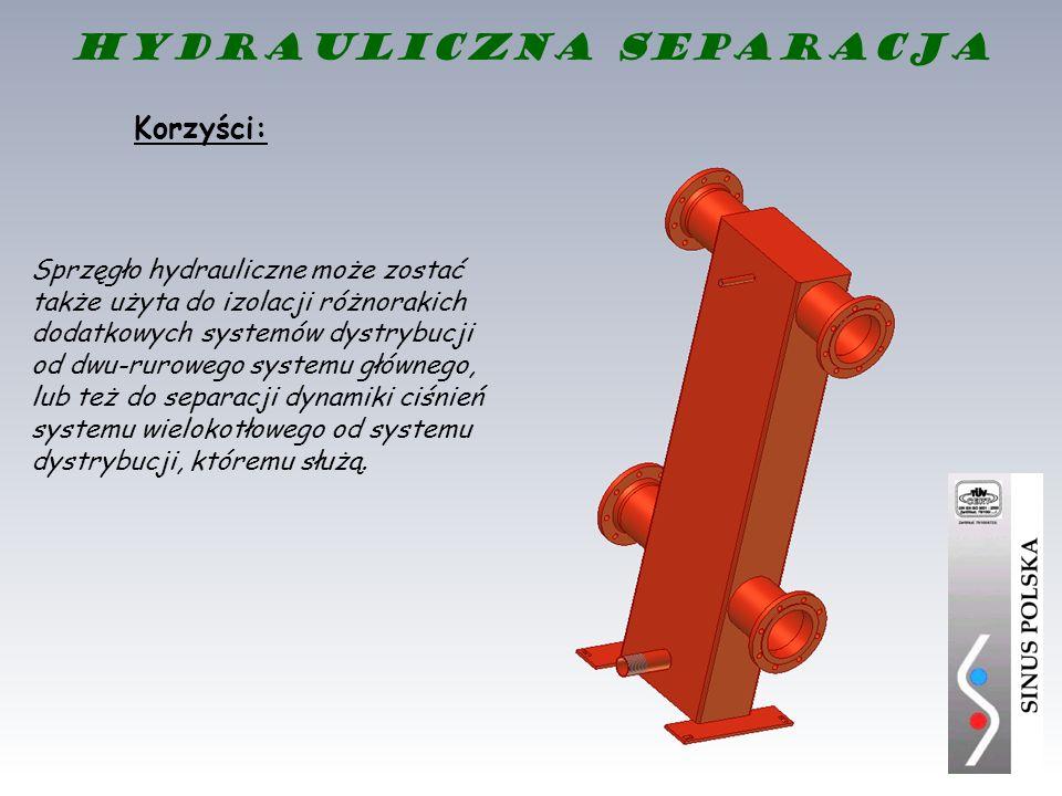 Sprzęgło hydrauliczne może zostać także użyta do izolacji różnorakich dodatkowych systemów dystrybucji od dwu-rurowego systemu głównego, lub też do se