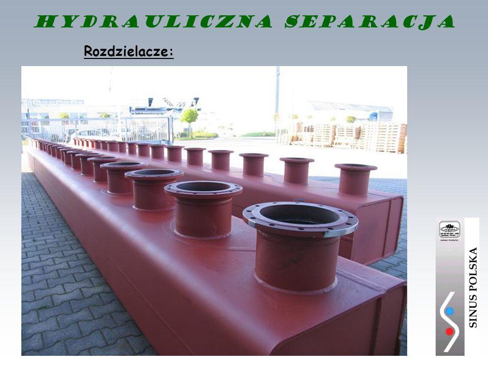 Hydrauliczna separacja Rozdzielacze: