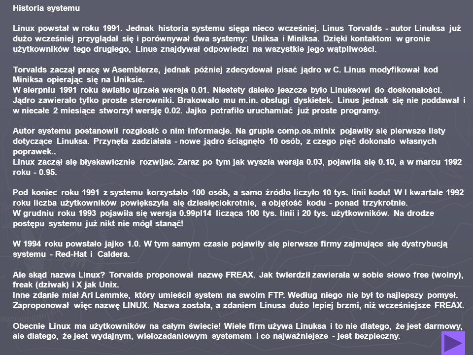 Budowa jądra Jądro Linuksa ma charakter monolityczny.