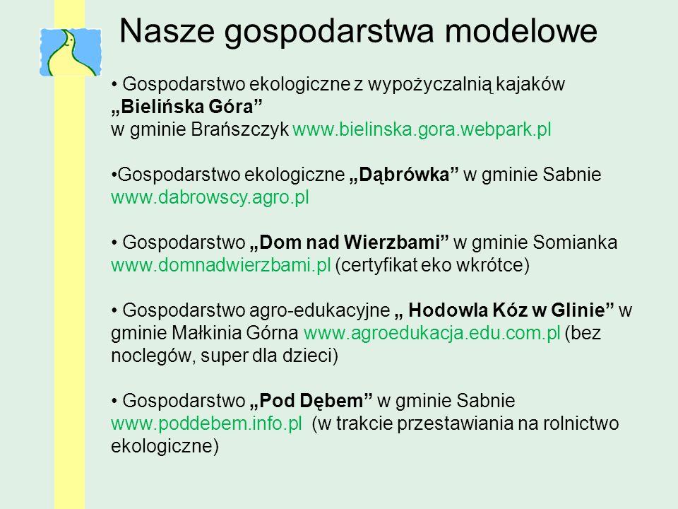 Gospodarstwo ekologiczne z wypożyczalnią kajaków Bielińska Góra w gminie Brańszczyk www.bielinska.gora.webpark.pl Gospodarstwo ekologiczne Dąbrówka w