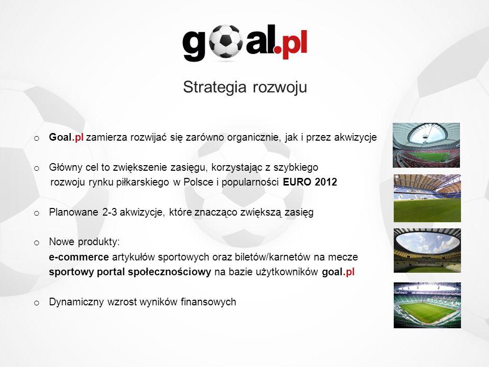 Strategia rozwoju o Goal.pl zamierza rozwijać się zarówno organicznie, jak i przez akwizycje o Główny cel to zwiększenie zasięgu, korzystając z szybki