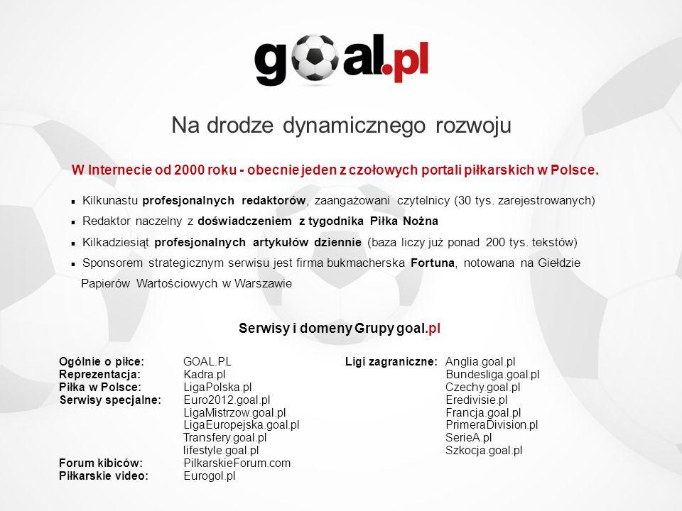 Ogólnie o piłce:GOAL.PL Reprezentacja:Kadra.pl Piłka w Polsce: LigaPolska.pl Serwisy specjalne:Euro2012.goal.pl LigaMistrzow.goal.pl LigaEuropejska.go