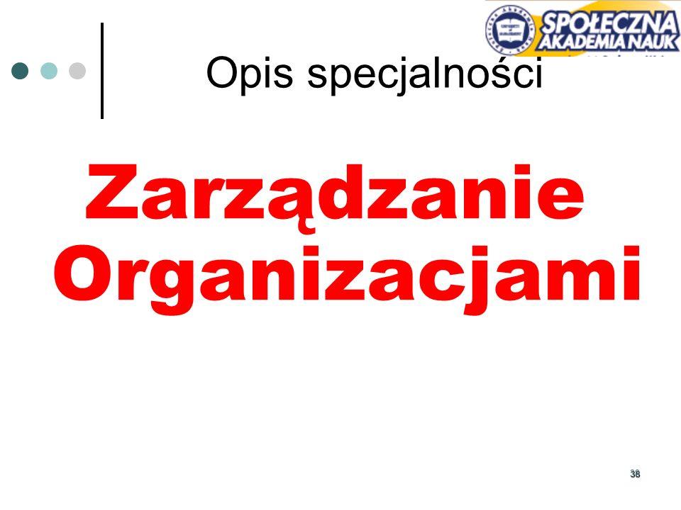 38 Opis specjalności Zarządzanie Organizacjami