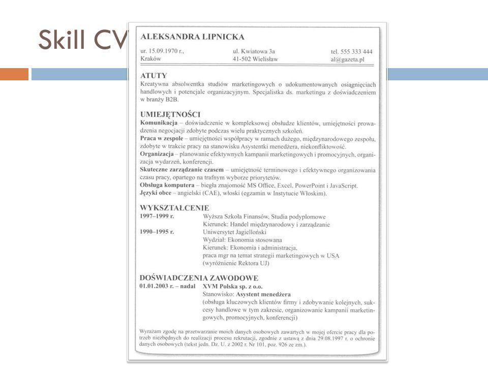 Skill CV