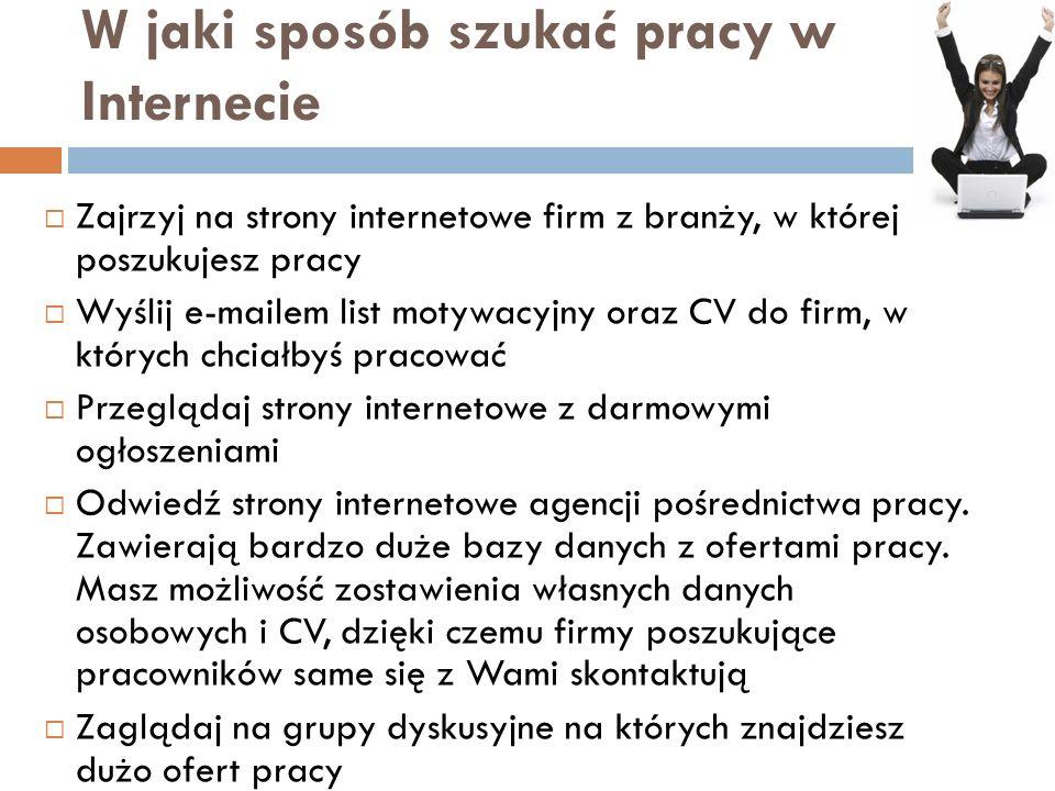 A może networking? Profeo.pl GoldenLine.pl LinkedIn.com