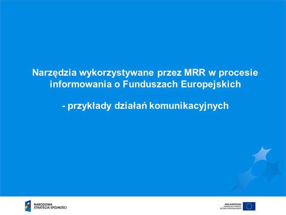 Narzędzia wykorzystywane przez MRR w procesie informowania o Funduszach Europejskich - przykłady działań komunikacyjnych