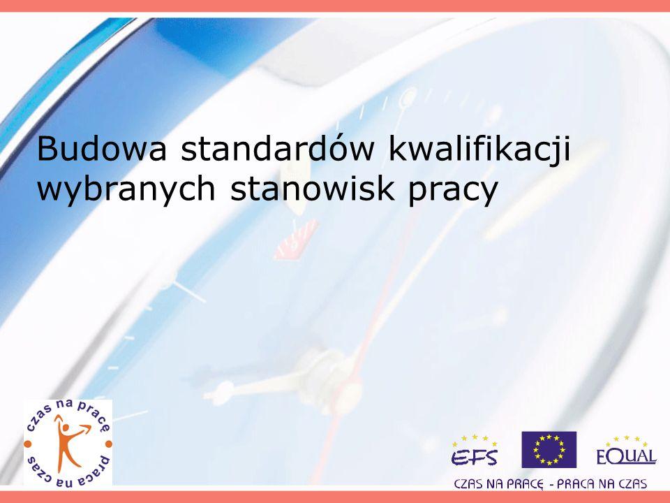 Budowa standardów kwalifikacji wybranych stanowisk pracy