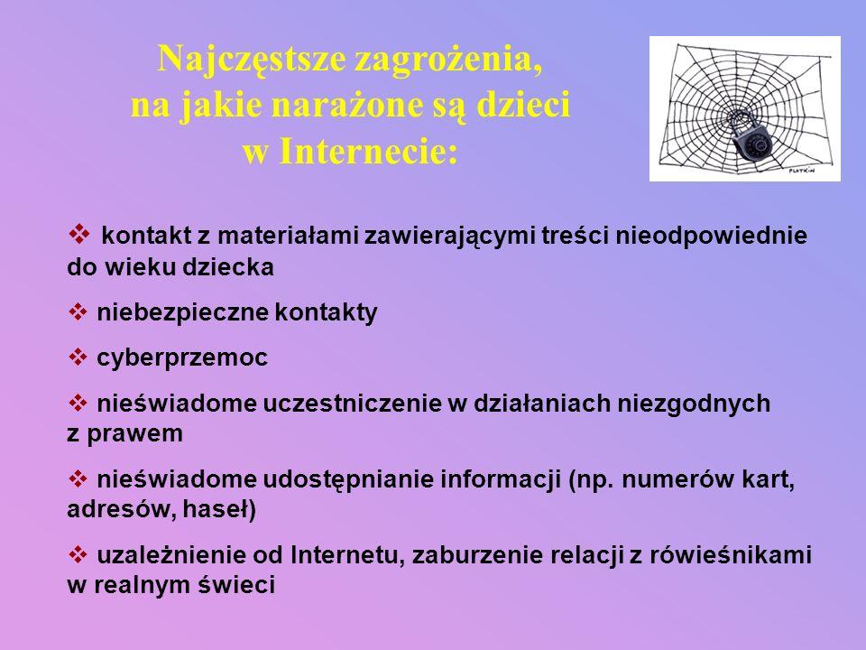 W prezentacji wykorzystano informacje znajdujące się na stronach: www.dzieckowsieci.pl, www.sieciaki.pl, www.brpd.gov.pl, www.kidprotect.pl, www.helpline.pl, www.dyzurnet.pl,www.pegi.info, www.saferinternet.pl, www.fdn.pl, www.cyberprzemoc.pl.