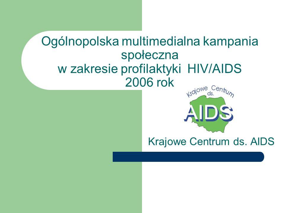 Ogólnopolska multimedialna kampania społeczna w zakresie profilaktyki HIV/AIDS 2006 rok Krajowe Centrum ds.