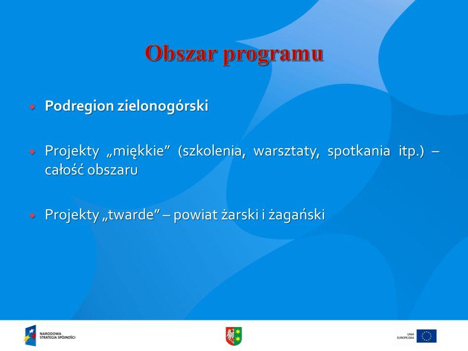 Podregion zielonogórski Podregion zielonogórski Projekty miękkie (szkolenia, warsztaty, spotkania itp.) – całość obszaru Projekty miękkie (szkolenia,
