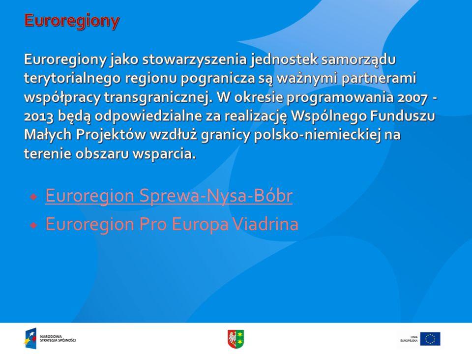 Euroregion Sprewa-Nysa-Bóbr Euroregion Pro Europa Viadrina