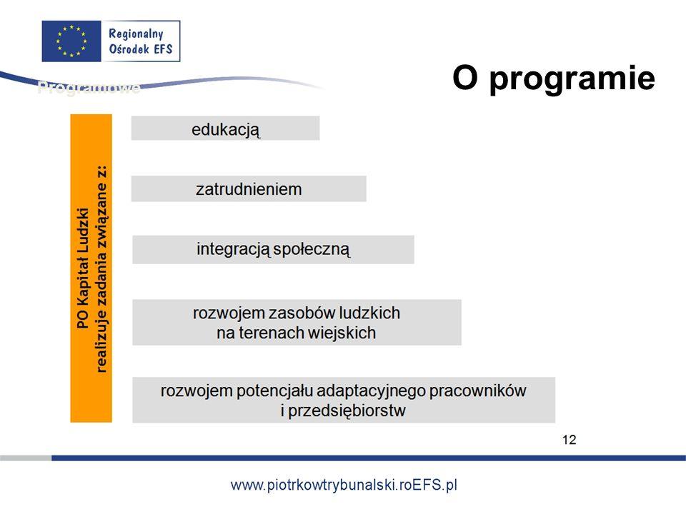 O programie Programowe