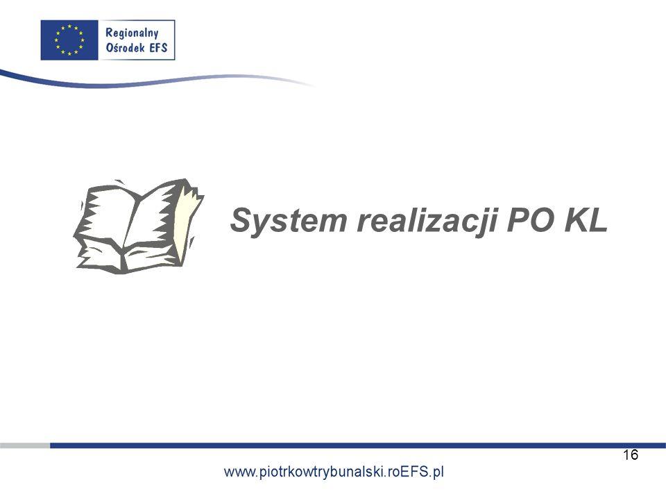 System realizacji PO KL 16
