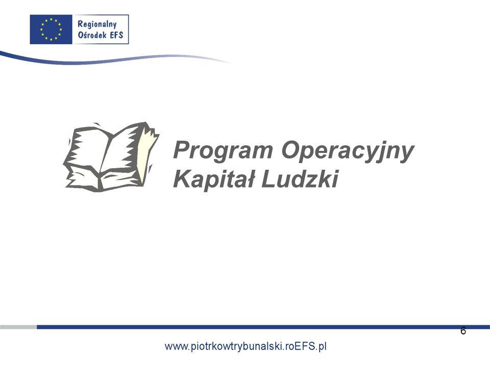 Program Operacyjny Kapitał Ludzki 6