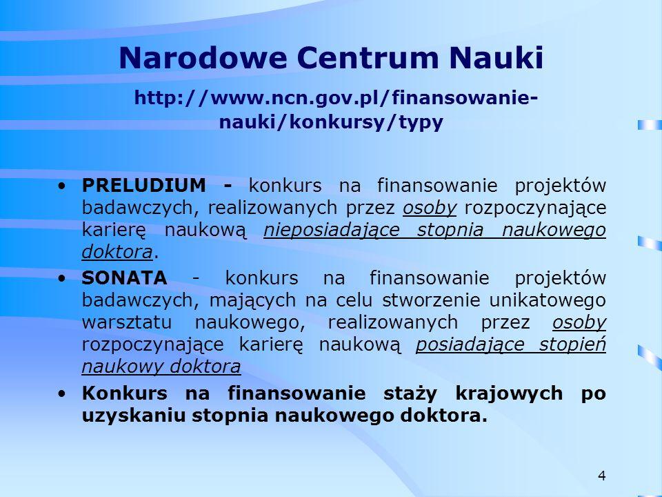 Fundacja na rzecz Nauki Polskiej http://www.fnp.org.pl 5