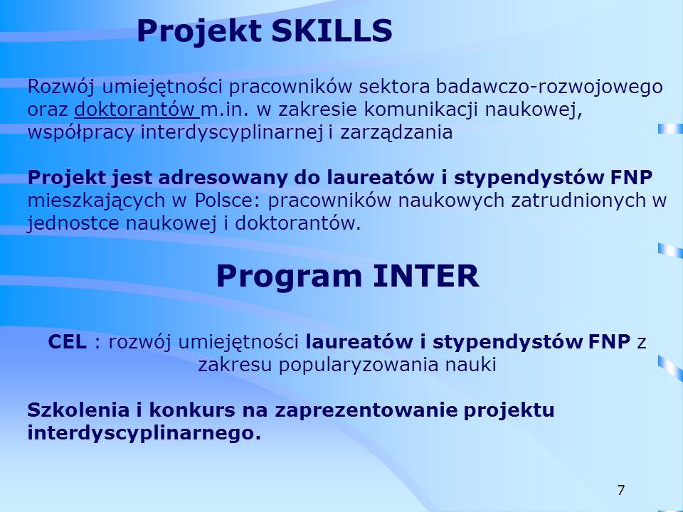 Celem programu jest podniesienie atrakcyjności pracy naukowej w Polsce, zainteresowanie młodych uczonych pracą naukową, a także zwiększenie liczby projektów, których wyniki mogą być wdrożone w działalności gospodarczej.