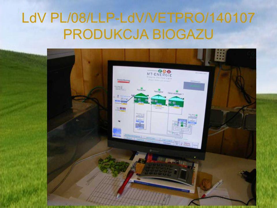 LdV PL/08/LLP-LdV/VETPRO/140107 PRODUKCJA BIOGAZU