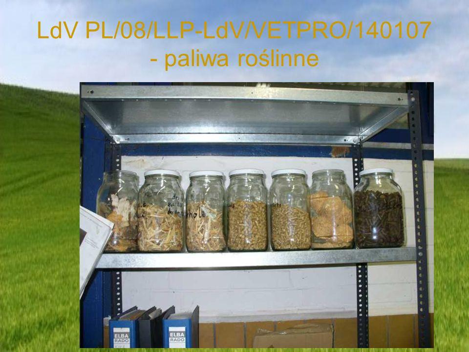 LdV PL/08/LLP-LdV/VETPRO/140107 - paliwa roślinne
