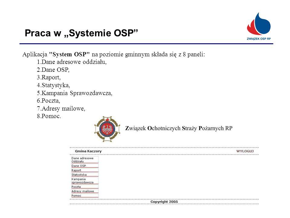Praca w Systemie OSP Aplikacja