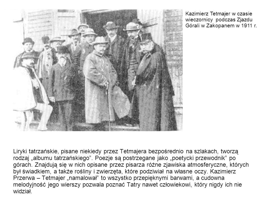 Liryki tatrzańskie, pisane niekiedy przez Tetmajera bezpośrednio na szlakach, tworzą rodzaj albumu tatrzańskiego. Poezje są postrzegane jako poetycki