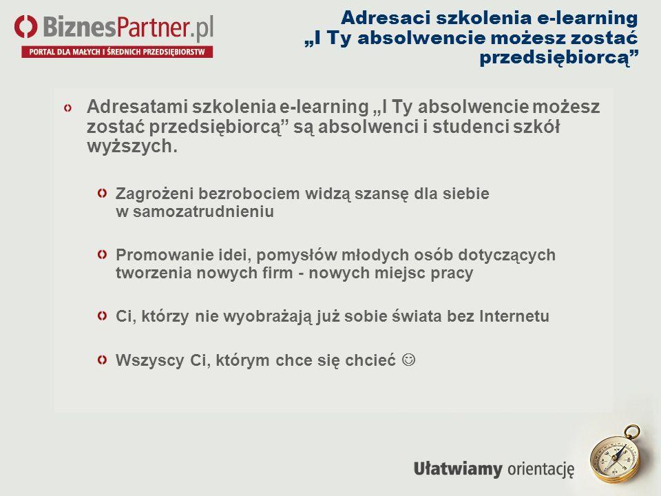 Adresaci szkolenia e-learning I Ty absolwencie możesz zostać przedsiębiorcą Adresatami szkolenia e-learning I Ty absolwencie możesz zostać przedsiębio