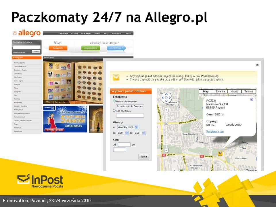 Paczkomaty 24/7 na Allegro.pl E-nnovation, Poznań, 23-24 września 2010