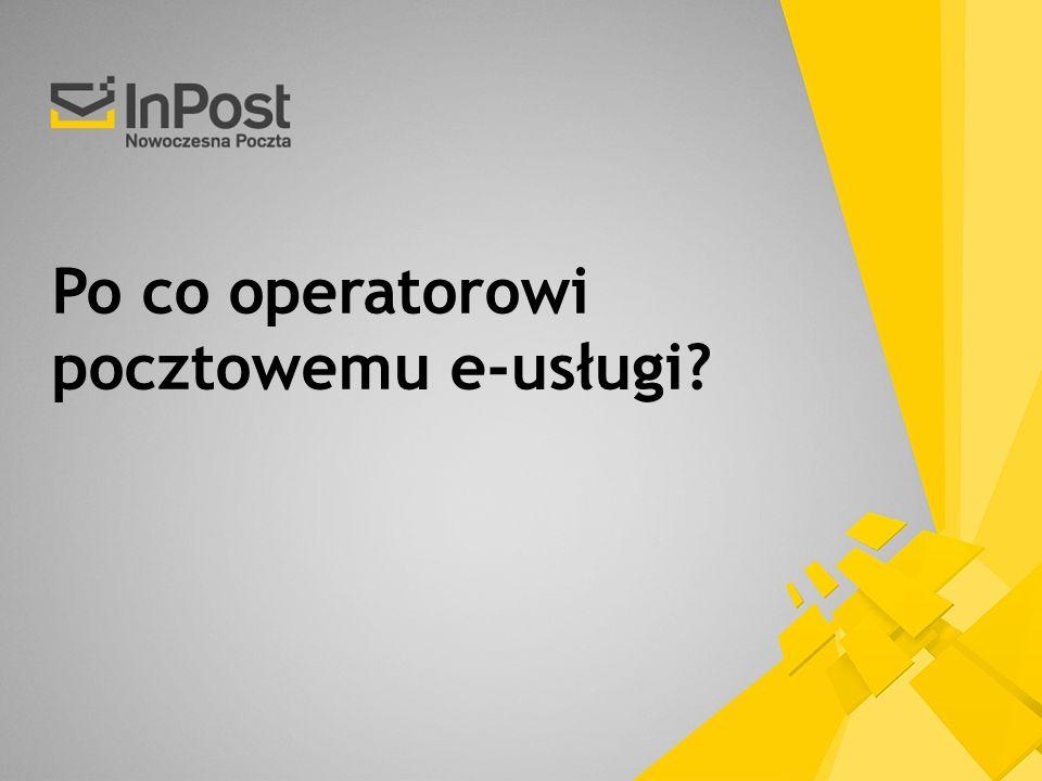 Po co operatorowi pocztowemu e-usługi?