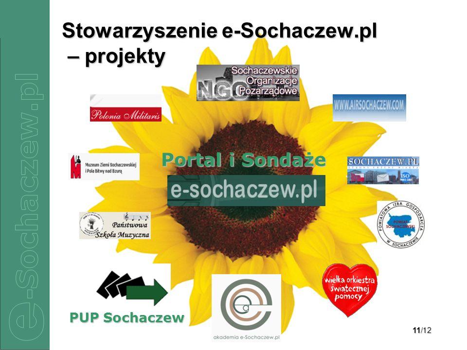 11/12 Stowarzyszenie e-Sochaczew.pl – projekty Portal i Sondaże PUP Sochaczew