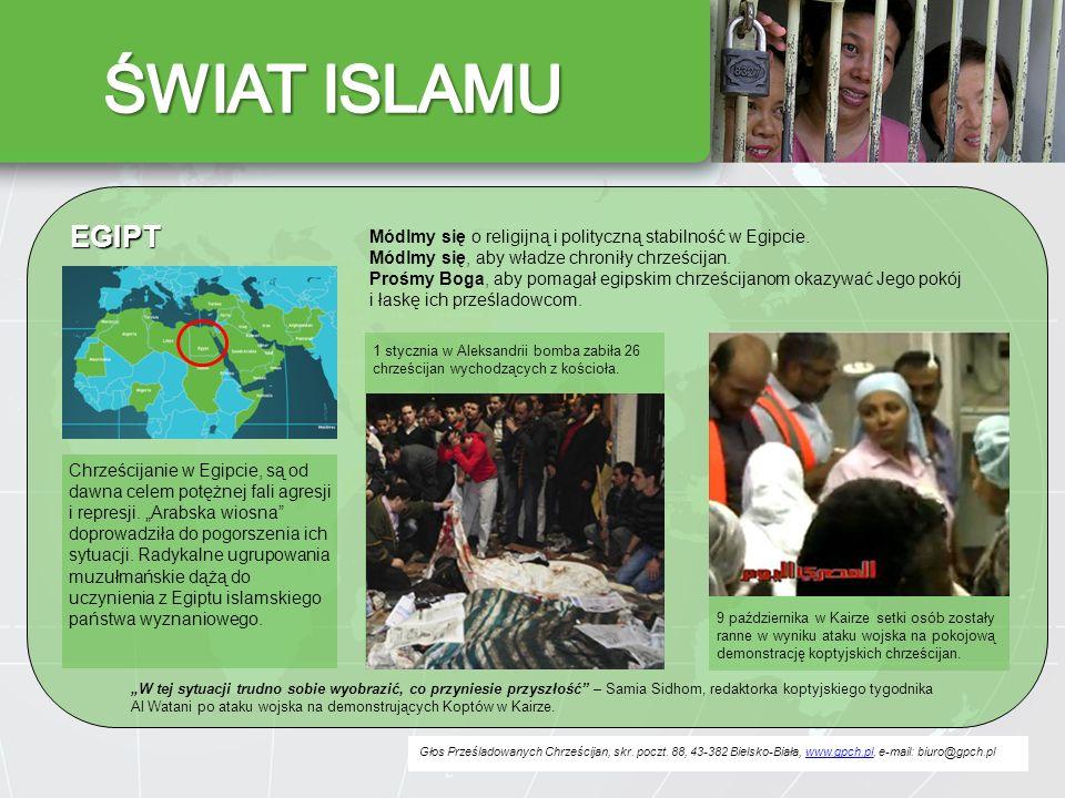 Głos Prześladowanych Chrześcijan, skr. poczt. 88, 43-382 Bielsko-Biała, www.gpch.pl, e-mail: biuro@gpch.plwww.gpch.pl EGIPT Módlmy się o religijną i p