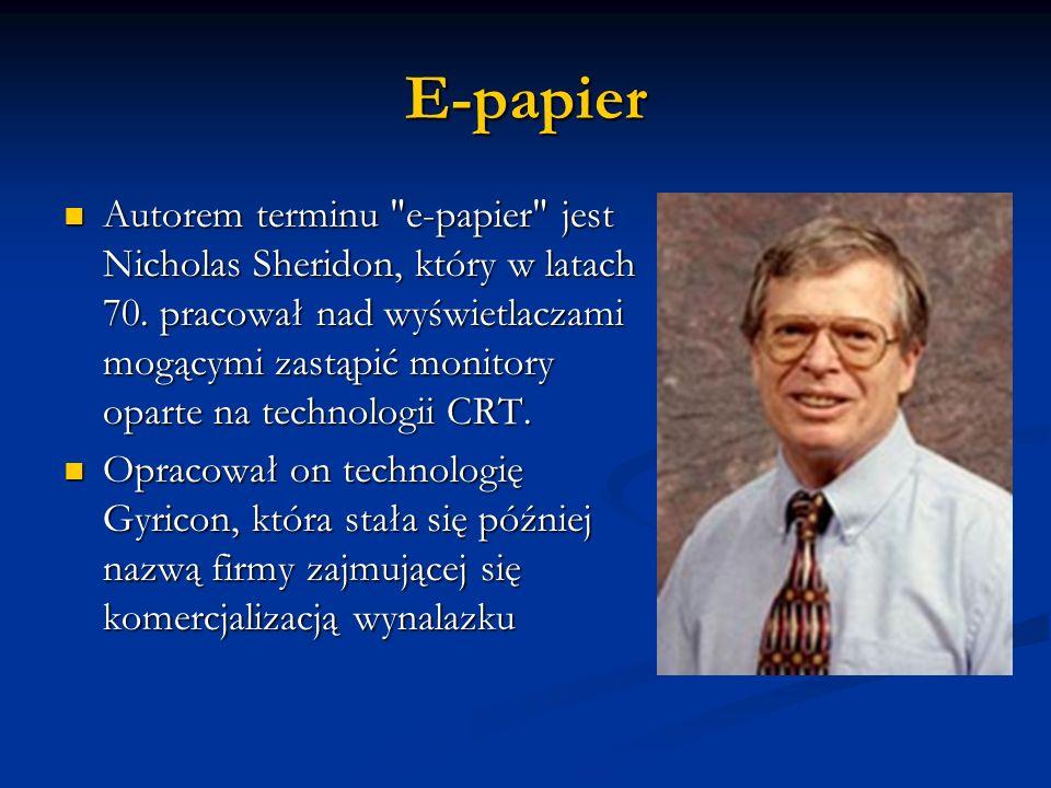 E-papier Autorem terminu
