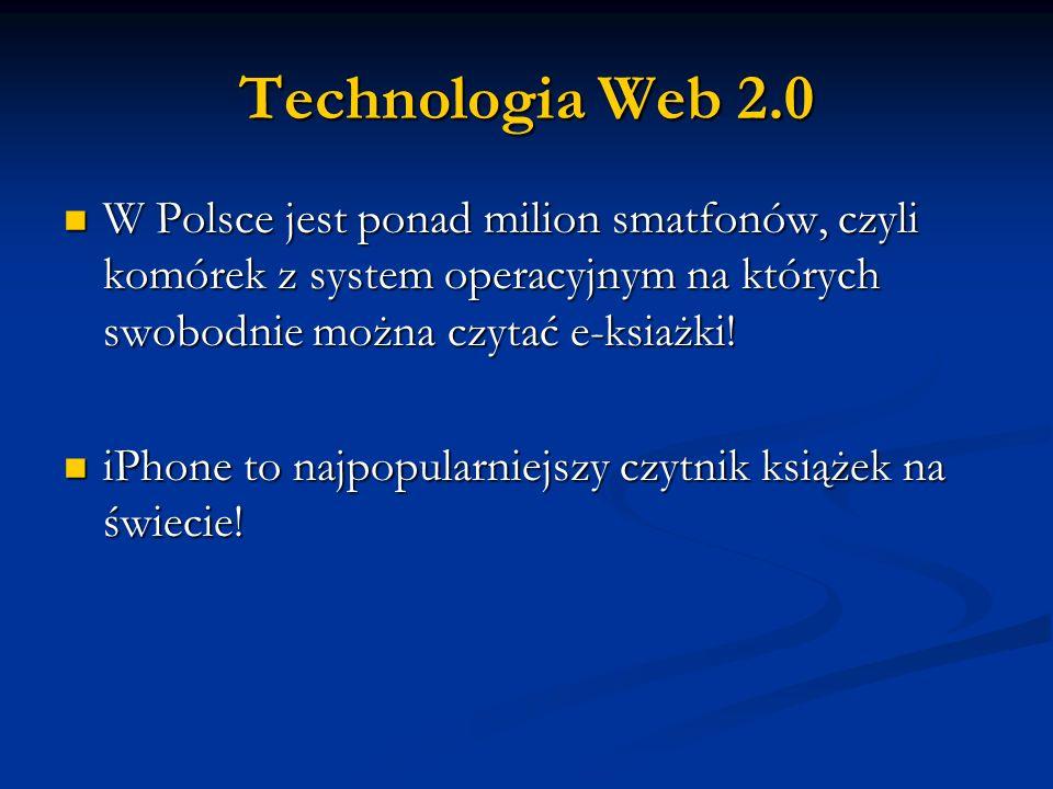 W Polsce jest ponad milion smatfonów, czyli komórek z system operacyjnym na których swobodnie można czytać e-ksiażki! W Polsce jest ponad milion smatf