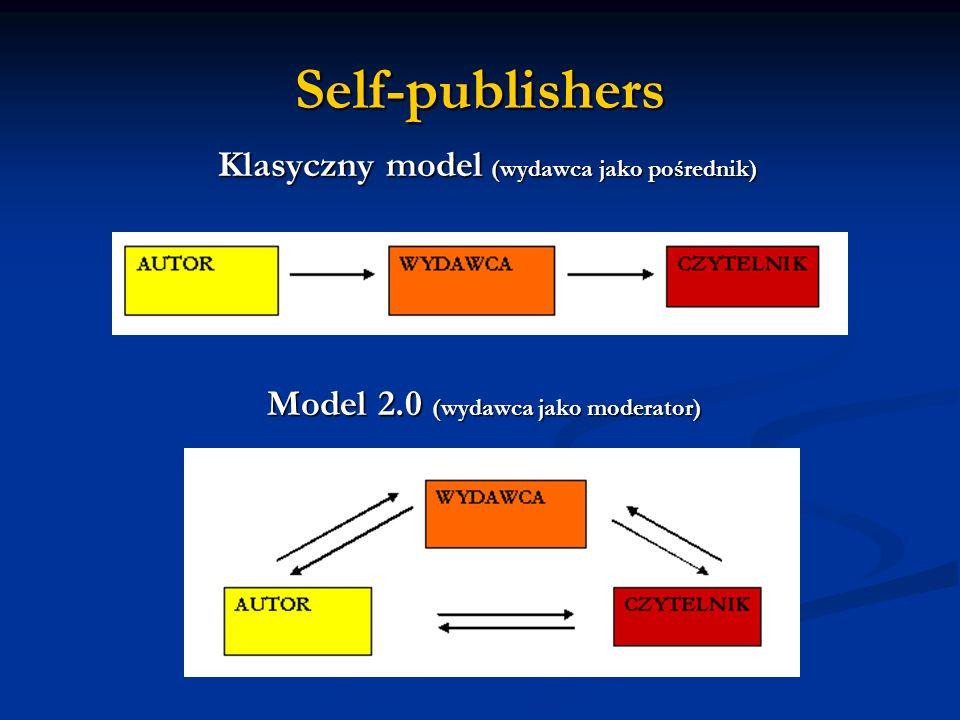 Self-publishers Klasyczny model (wydawca jako pośrednik) Model 2.0 (wydawca jako moderator)
