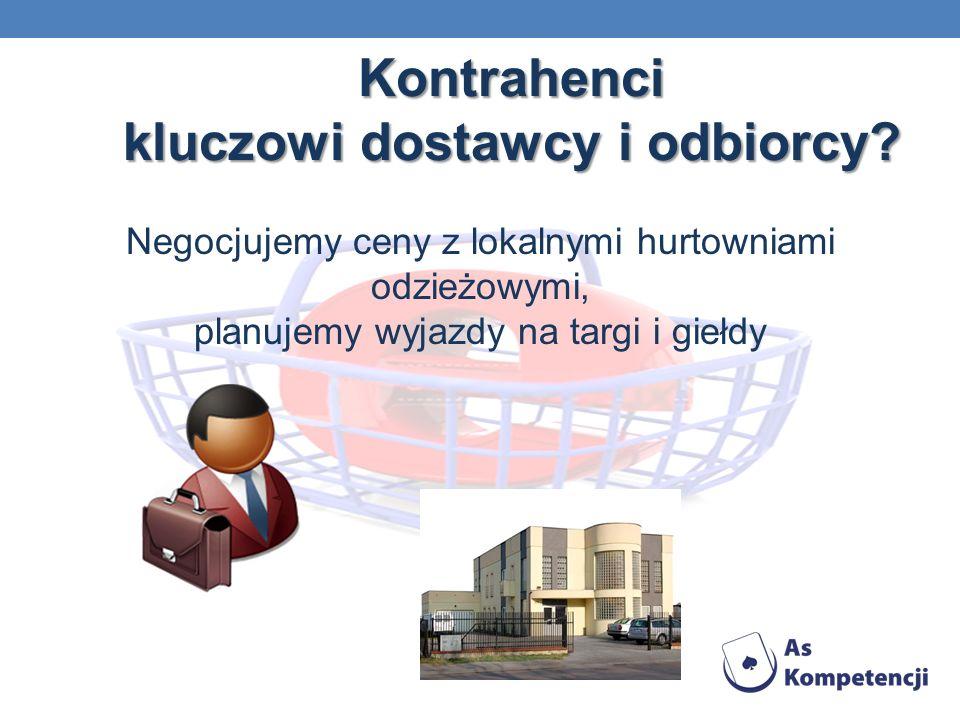 Kontrahenci kluczowi dostawcy i odbiorcy.Kontrahenci kluczowi dostawcy i odbiorcy.