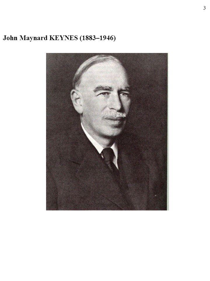 3 John Maynard KEYNES (1883–1946)