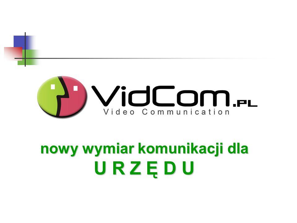 VidCom.pl dla: KOMUNIKACJI MIĘDZY ODDZIAŁAMI URZĘDU Kilka budynków / Kilka oddziałów Kilka budynków / Kilka oddziałów Codzienne kilkukrotne pokonywanie drogi między oddziałami – strata czasu.