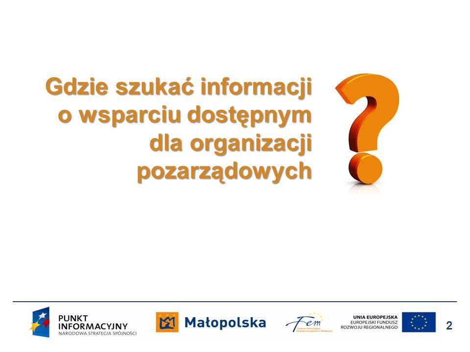 Gdzie szukać informacji o wsparciu dostępnym dla organizacji pozarządowych 2