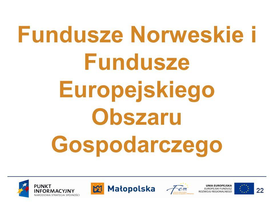 Fundusze Norweskie i Fundusze Europejskiego Obszaru Gospodarczego 22