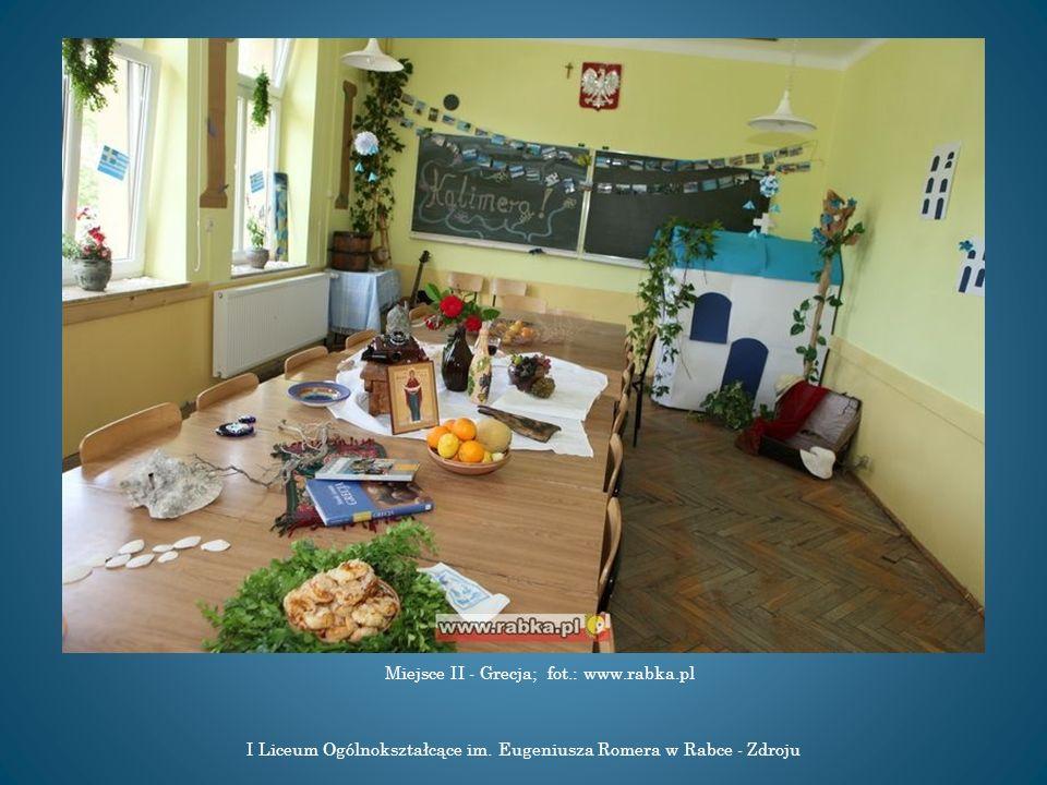 I Liceum Ogólnokształcące im. Eugeniusza Romera w Rabce - Zdroju Miejsce II - Grecja; fot.: www.rabka.pl