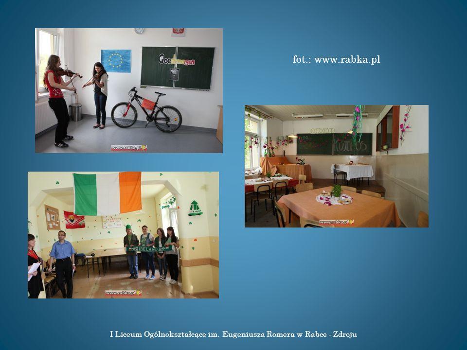 I Liceum Ogólnokształcące im. Eugeniusza Romera w Rabce - Zdroju Źródło: www.romer.region-rabka.pl