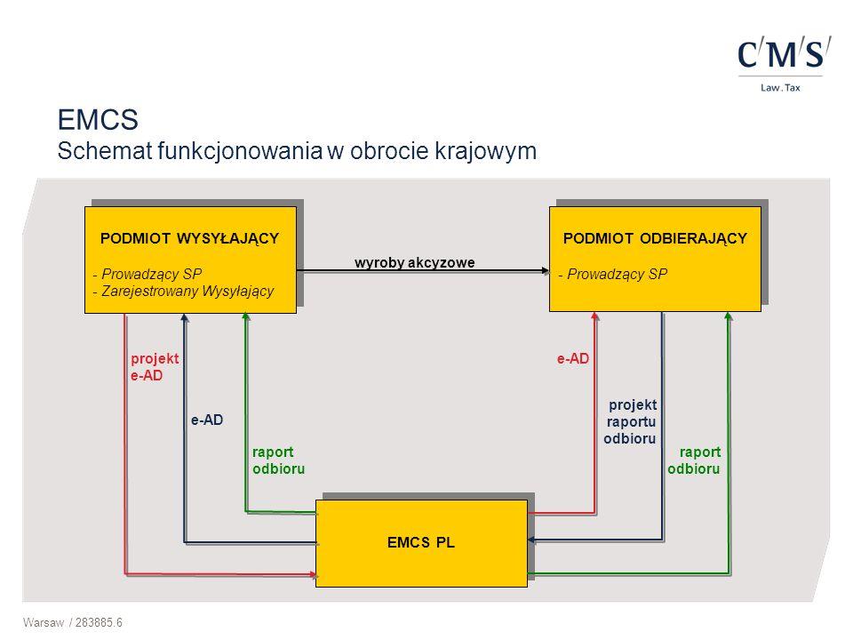 Warsaw / 283885.6 PODMIOT WYSYŁAJĄCY - Prowadzący SP - Zarejestrowany Wysyłający PODMIOT WYSYŁAJĄCY - Prowadzący SP - Zarejestrowany Wysyłający PODMIO
