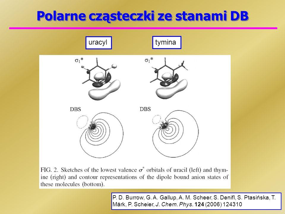 Polarne cząsteczki ze stanami DB uracyl tymina P.D.