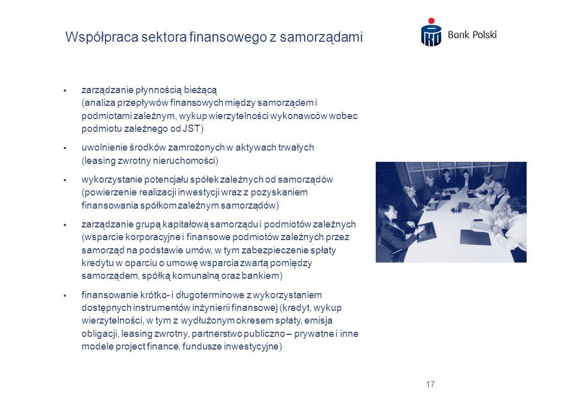 17 Współpraca sektora finansowego z samorządami zarządzanie płynnością bieżącą (analiza przepływów finansowych między samorządem i podmiotami zależnym