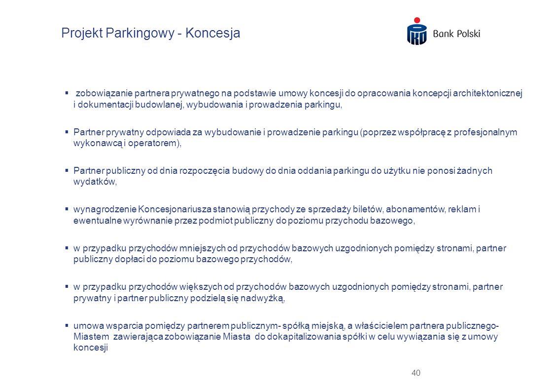 40 zobowiązanie partnera prywatnego na podstawie umowy koncesji do opracowania koncepcji architektonicznej i dokumentacji budowlanej, wybudowania i pr