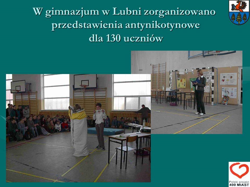 W gimnazjum w Lubni zorganizowano przedstawienia antynikotynowe dla 130 uczniów W gimnazjum w Lubni zorganizowano przedstawienia antynikotynowe dla 13