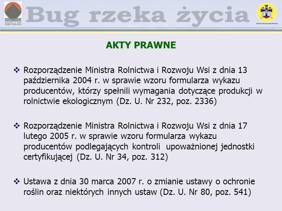 AKTY PRAWNE Rozporządzenie Ministra Rolnictwa i Rozwoju Wsi z dnia 13 października 2004 r. w sprawie wzoru formularza wykazu producentów, którzy spełn