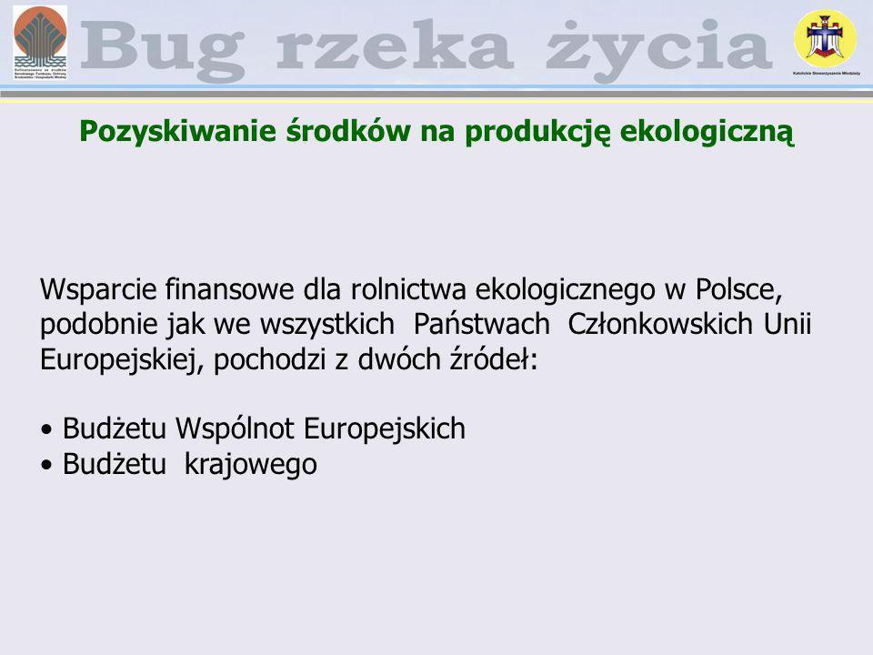 Pozyskiwanie środków na produkcję ekologiczną Wsparcie finansowe dla rolnictwa ekologicznego w Polsce, podobnie jak we wszystkich Państwach Członkowsk